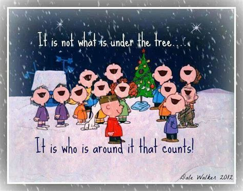 charlie brown christmas its not whats under the tree quote pin by wendy cottingham on i the peanuts