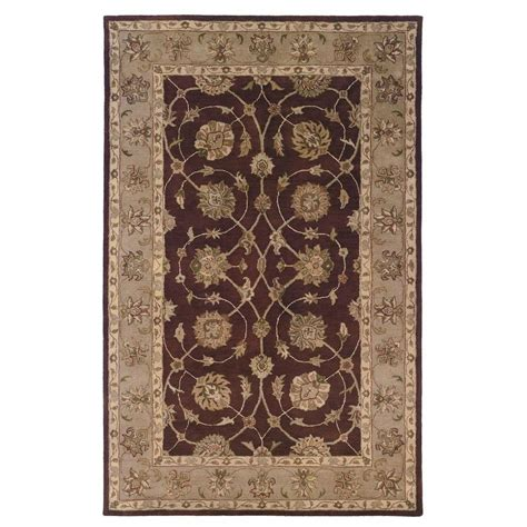 home accents rug collection linon home decor rosedown collection burgundy and beige 5