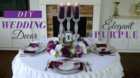diy elegant wedding decoration purple wedding decor