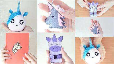 Diy Lu unicorn lu kendin yap videosu 4 unicorn diy projects