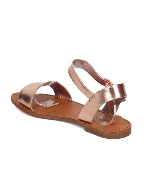 breckelles shoes shoes breckelles gg22 metallic leatherette open toe