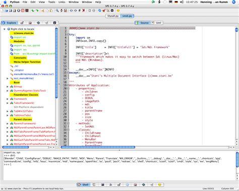 best python editor spe stani s python editor free and reviews