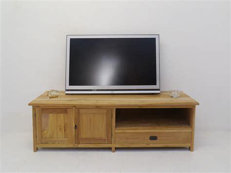schrank 160 cm breit lowboard tv schrank fernsehtisch aus teakholz unbehandelt
