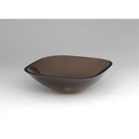 ronbow glass vessel sinks ronbow squared tempered glass vessel bathroom sink in