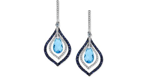 Blue Sapphire 4 0 Ct effy collection effy blue topaz and sapphire 4 5 8 ct t