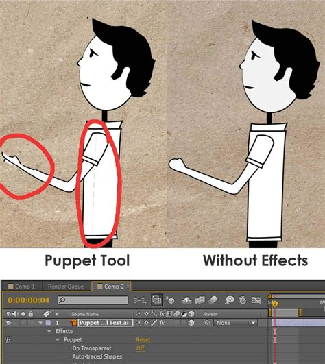 tutorial after effect cs2 puppet tool on illustrator file adobe after effects