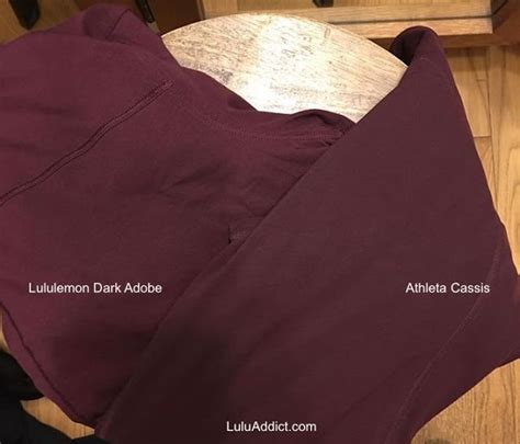cassis color lululemon addict color comparison athleta cassis to