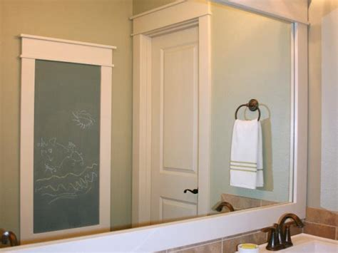 how to frame a mirror hgtv bathroom mirror ideas and designs hgtv
