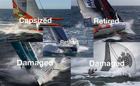 catamaran capsize in cape town updated damage retirements and a capsize as transat