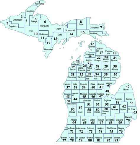 michigan county map with cities michigan s counties