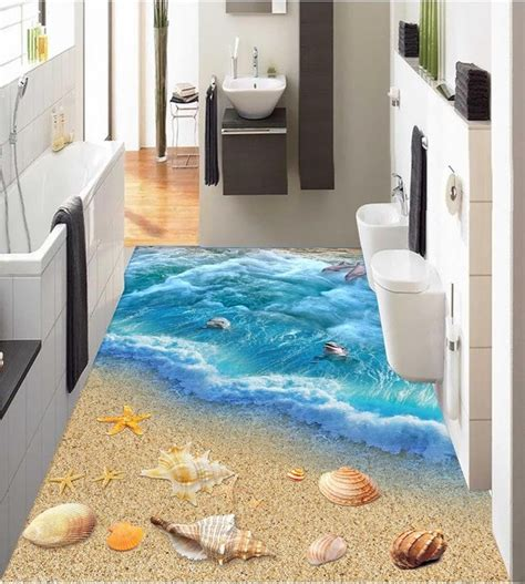 buy bathroom floor tiles 3 d pvc flooring custom 3d bathroom flooring wall paper 3