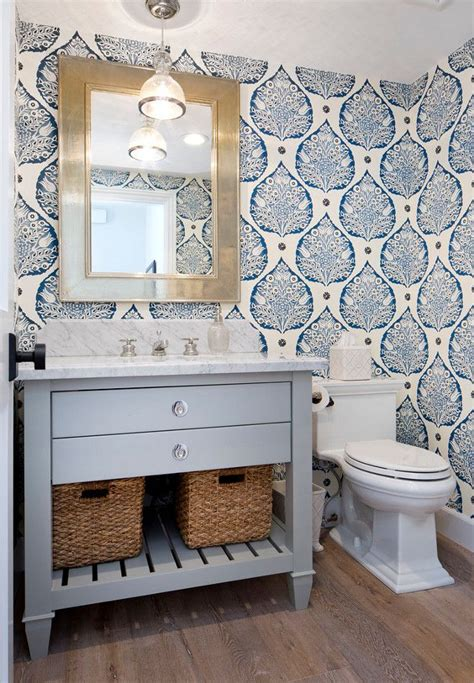Wallpaper Ideas For Small Bathroom by Best 25 Bathroom Wallpaper Ideas On Half