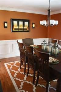 Burnt Orange Dining Room by The Yellow Cape Cod Before And After A Dining Room Design