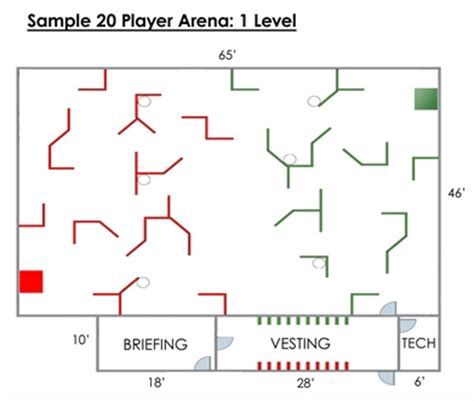 laser tag floor plan third party arenas