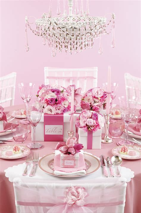 pretty tables one pretty pin glamorous pink party table chickabug