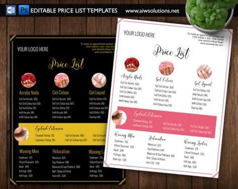 Pricing List Template Price List Template Menu Template Price Menu Template