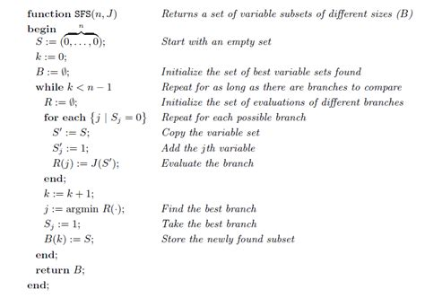 Sequential Search Best Using Bhattacharyya Distance For Feature Selection