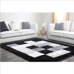 Modern Black And White Rug Square Black White Grey Modern Design Rug Carpet Home Furnishings Ideas