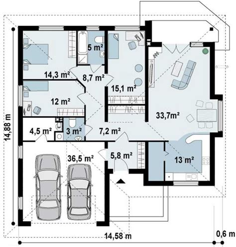 una cochera cuanto mide medidas garage 2 autos