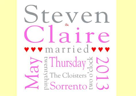 Wedding Announcement Uk by Wedding Announcement Prints Andover Printing Company