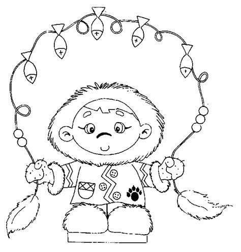 eskimo people coloring pages sketch coloring page