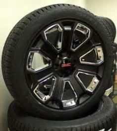 New Truck Tires And Rims New Set Of Satin Black Chrome 22 Quot Gmc Yukon 1500