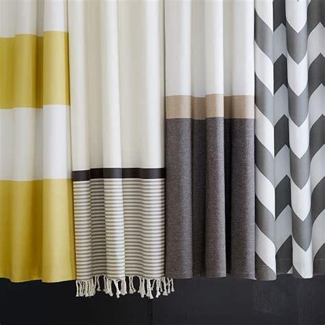 slate shower curtain slate horizon stripe shower curtain west elm