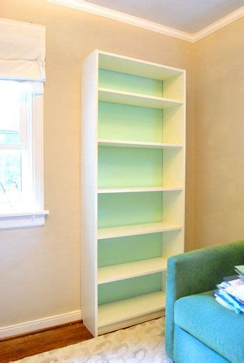 an ikea bookcase look built in painting the back