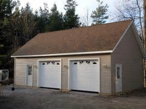 Build A Two Car Garage by 2 Car Post Frame Garage With Attic Customer Projects