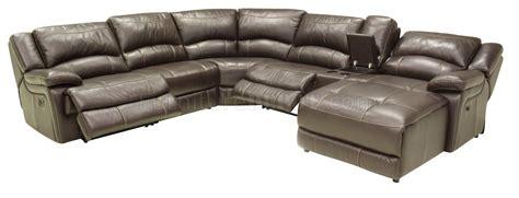 contemporary reclining sectional mahogany full leather contemporary reclining 6pc sectional