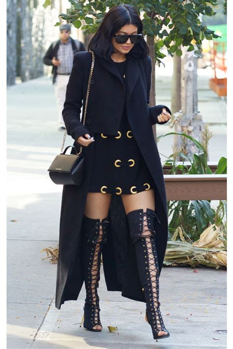 laced up ny lacedupn twitter kylie jenner wears thigh high tom ford boots to lunch