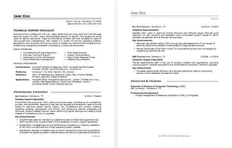 it help desk resume sle resume for experienced it help desk employee