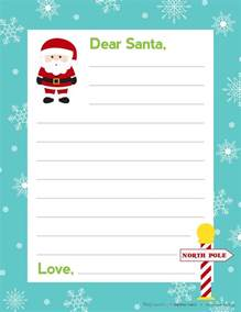 Writing A Letter To Santa Template Letter To Santa Free Printable By Bitsycreations