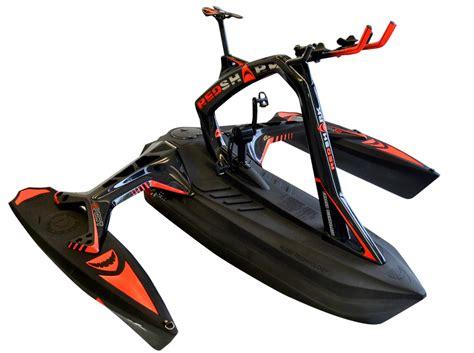 trimaran bike redshark bikes go training or bikepacking by sea as