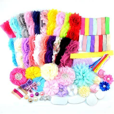 shabby chic headband kit 4 make 12 diy headbands baby diy headband kit shabby chic country meadow