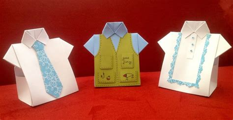 Origami Shirt Box - shirt favor boxes 1 shirt with tie 2 shirt with fishing