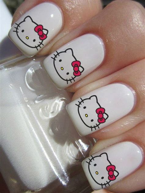 cute  kitty nail art designs hative