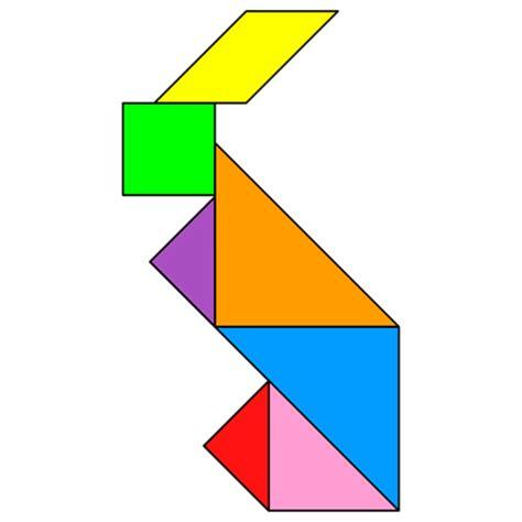 Bird Figures by Tangram Rabbit Tangram Solution 2 Providing Teachers