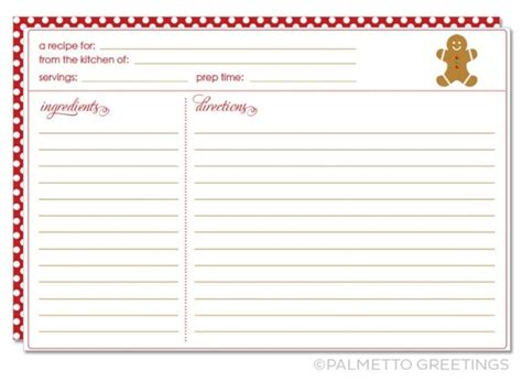 cookie recipe card template printable recipe card with theme