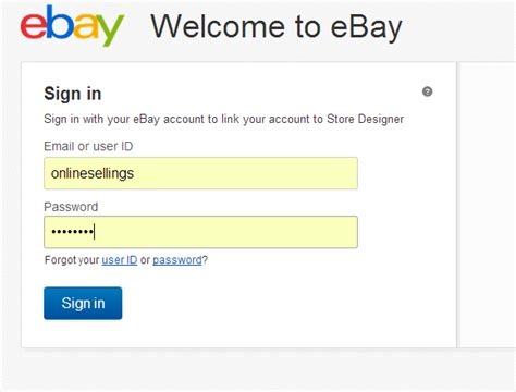 ebay login pin ebay uk sign in page on pinterest