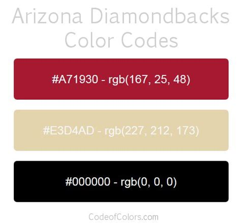 arizona diamondbacks colors 22 best mls team colors images on color boards