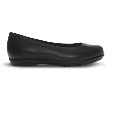 flat black shoe crocs grace flat black leather slip on shoe ideal for