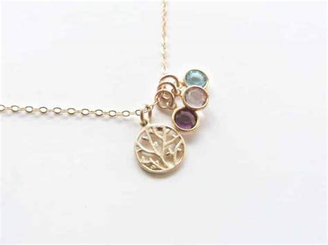 children s birthstones personalized necklace