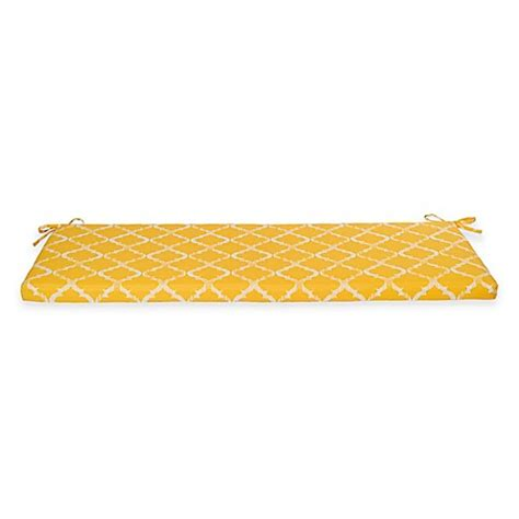 yellow bench cushion buy enhance bench cushion in yellow from bed bath beyond