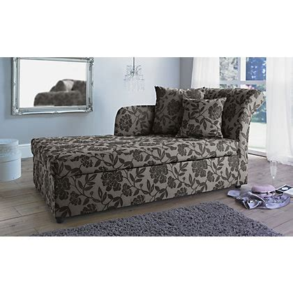 floral sofa bed floral metal chaise longue sofa bed charcoal at