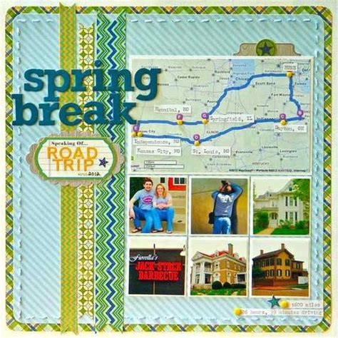 scrapbook layout travel ideas for scrapbooking travel when you take a road trip