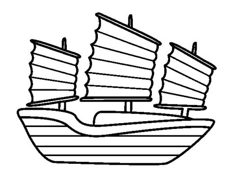 dibujo de barco oriental para colorear dibujos net - Barco De Bela Dibujo