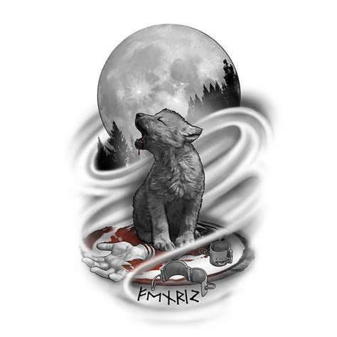 wolf howling at the moon tattoo designs 25 best ideas about wolf design on
