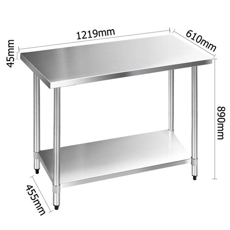 stainless kitchen bench buy 304 stainless steel kitchen work bench table 1219mm
