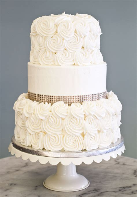 Wedding Cakes Simple by A Simple Wedding Cake With Rosettes And
